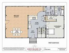 pole barn house floor plans class barn 1 timber frame barn home plans from davis frame