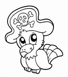 kostenlose malvorlage piraten piraten papagei zum ausmalen