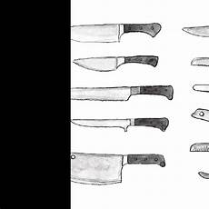 kinds of kitchen knives learn how to use different types of knives an illustrated guide