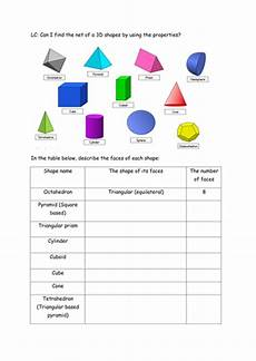 nets of 3d shapes by cartwright24 teaching resources