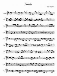 one reoublic secrets violin sheet music