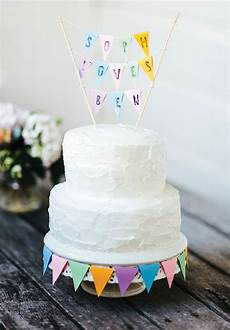 diy wedding cake bunting diy wedding cake topper hello may