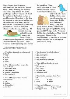 reading comprehension for beginner and elementary students 6 worksheet free esl printable