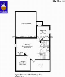 eliot house floor plan eliot basement level floor plan stanley martin custom homes