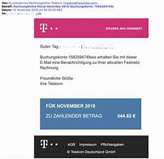 virus durch angebliche telekom rechnung anti spam info