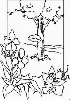 malvorlagen landschaften gratis und original baum und bluemchen ausmalbild malvorlage fr 252 hling