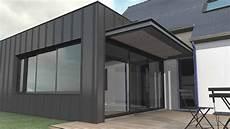 toit plat en zinc bo 238 te en zinc dans le jardin oblike architecture