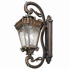 very large outdoor ip44 wall light in bronze with clear
