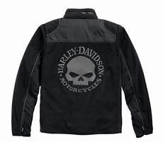 98576 16vm harley davidson fleece jacket skull windproof