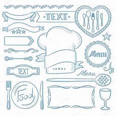 cornici menu set di nastri cornici per menu ristorante