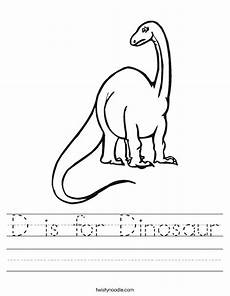 dinosaur worksheets 15375 d is for dinosaur worksheet twisty noodle