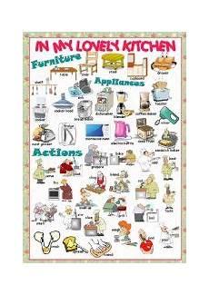 Kitchen Furniture Names Kitchen Esl Worksheet By Ankurzi