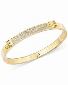 swarovski armband gold swarovski gold tone pvd pave bangle bracelet in