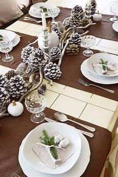 Tischdeko Weihnachten Natur - winterlich festliche tischdeko mit naturmaterialien mrs
