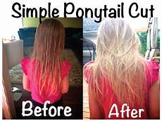 life sprinkled with glitter diy ponytail cut a little hairstyle