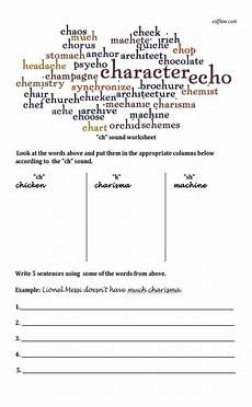 quot ch quot pronunciation worksheet for english language learners