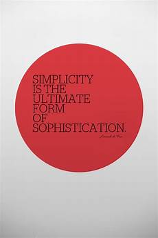 simplicity is the ultimate form of sophistication leonardo da vinci graphic quotes