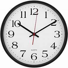 White Black Quartz Silent Clock Wall by Large Modern Wall Clocks