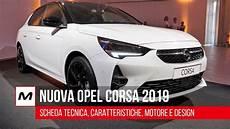 nuova opel corsa 2019 scheda tecnica caratteristiche