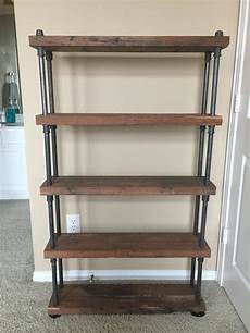 reclaimed wood shelf with industrial black by
