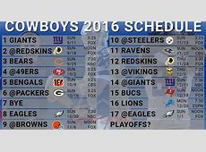 dallas cowboys printable schedule 2020