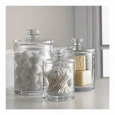 Bathroom Jar Storage by Glass Canisters For Bathroom Storage Again Don T