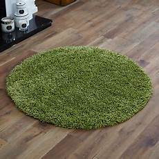 Runder Hochflor Teppich - large modern thick 5cm high pile lime green shaggy circle