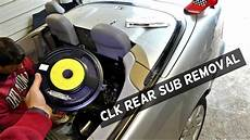 mercedes w208 clk rear sub subwoofer speaker removal