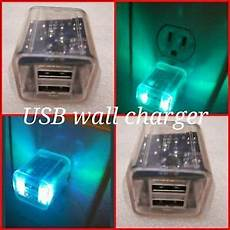 led light up usb wall charger us plug universal phone power adapter ebay