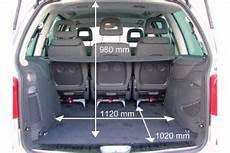 Ford Galaxy Kofferraum Maße - adac auto test vw sharan 1 9 tdi comfortline