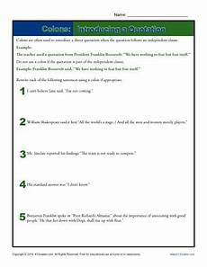 punctuation worksheets k12 20817 colons introducing a quotation punctuation worksheets quotations worksheets