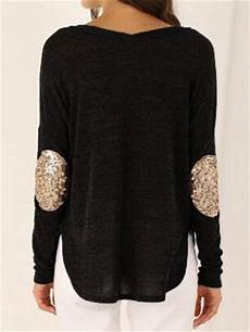 black patch sequined t shirt crystalline