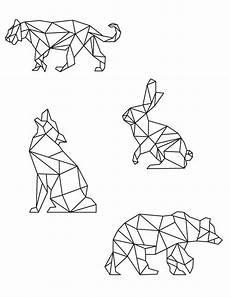 Malvorlagen Geometrische Tiere Malvorlagen Kunsttherapie Tiere Polygonal Ausmalbilder