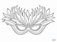 venetian mardi gras mask coloring page free printable