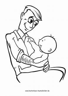 ausmalbilder vater mit baby menschen zum ausmalen