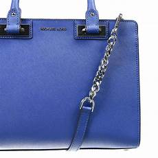michael michael kors handbag in blue lyst
