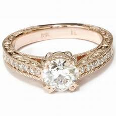 vintage diamond engagement engraved 1 15ct