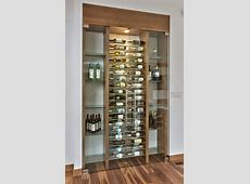 Gorgeous glass wine closet! Easy conversion from a