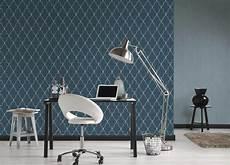 Michalsky Tapete Vlies Gestreift Textil Blau 36499 8