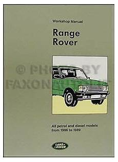 online car repair manuals free 1996 land rover range rover electronic toll collection range rover repair shop manual 1986 1987 1988 1989 service workshop book ebay