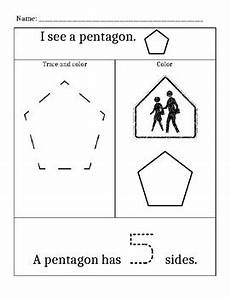 shapes worksheet pentagon hexagon and octagon by montemurro