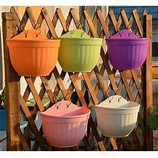 vasi in plastica colorati 2 x plastic flower pots hanging garden basket plant