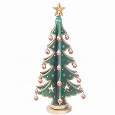 deko tannenbaum mit christbaum kugeln drehbar holz