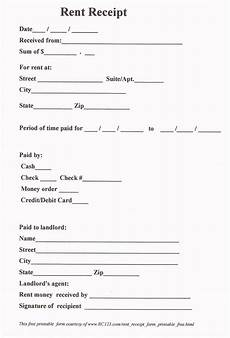 rent receipt form free and printable rc123 com