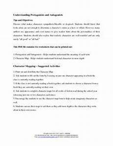understanding protagonists and antagonists 6th 12th grade worksheet lesson planet