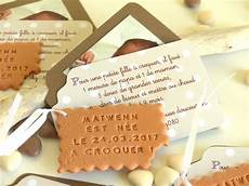Faire Part De Naissance Th 232 Me Gourmandise Avec Biscuit