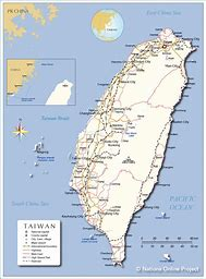 Image result for Map of Taiwan