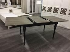 tisch ausziehbar schwarz grau landhaus esstisch schwarz