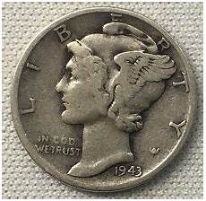 1943 mercury dimes winged liberty silver dime value and