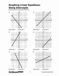 graphing linear equations using intercepts edboost